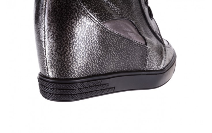 Sneakersy bayla-154 w-771 srebro, skóra naturalna  - sneakersy - buty damskie - kobieta 7