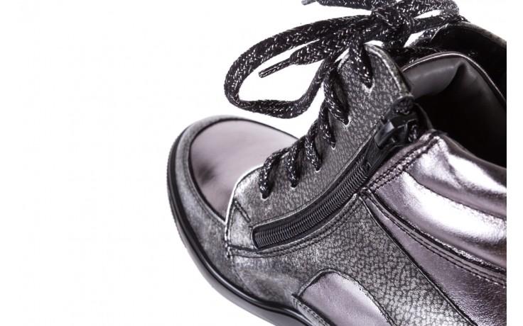 Sneakersy bayla-154 w-771 srebro, skóra naturalna  - sneakersy - buty damskie - kobieta 6