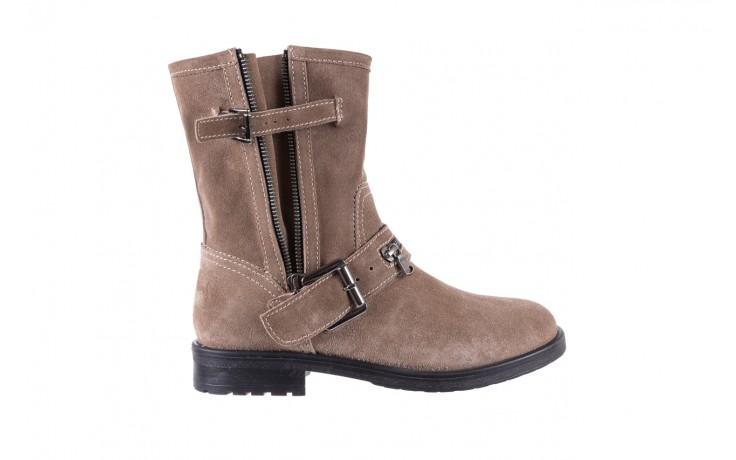 Botki bayla-164 top 25 beige 164007, beż, skóra naturalna  - worker boots - trendy - kobieta