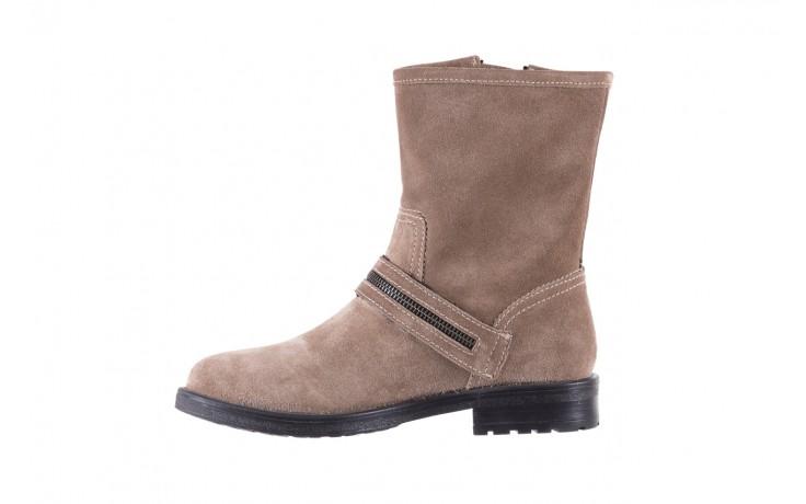Botki bayla-164 top 25 beige 164007, beż, skóra naturalna  - worker boots - trendy - kobieta 2