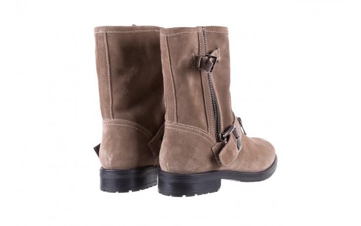 Botki bayla-164 top 25 beige 164007, beż, skóra naturalna  - worker boots - trendy - kobieta 3