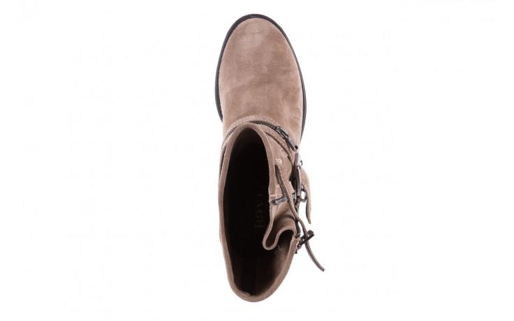 Botki bayla-164 top 25 beige 164007, beż, skóra naturalna  - worker boots - trendy - kobieta 4