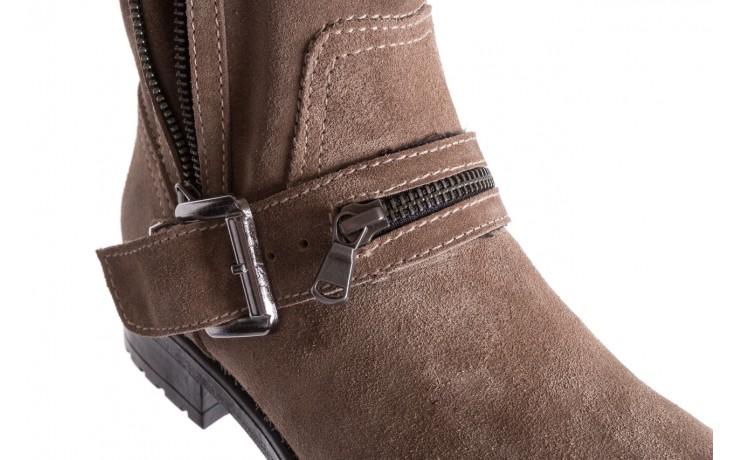 Botki bayla-164 top 25 beige 164007, beż, skóra naturalna  - worker boots - trendy - kobieta 6