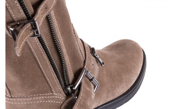Botki bayla-164 top 25 beige 164007, beż, skóra naturalna  - worker boots - trendy - kobieta 5