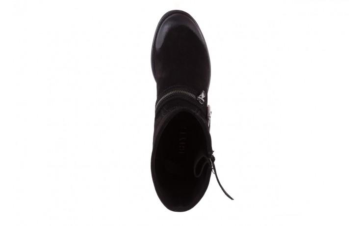 Botki bayla-164 top 25 black 164008, czarny, skóra naturalna 4