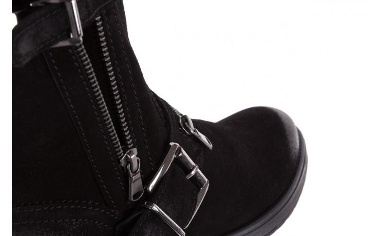 Botki bayla-164 top 25 black 164008, czarny, skóra naturalna 5