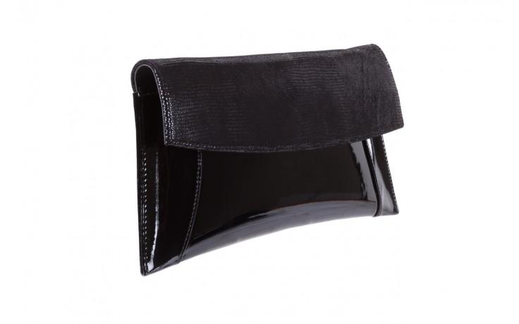 Torebka bayla-097 torebka koperta sandra czarny-lakier-czarny tejus, skóra naturalna lakierowana - halloween do -30% 1