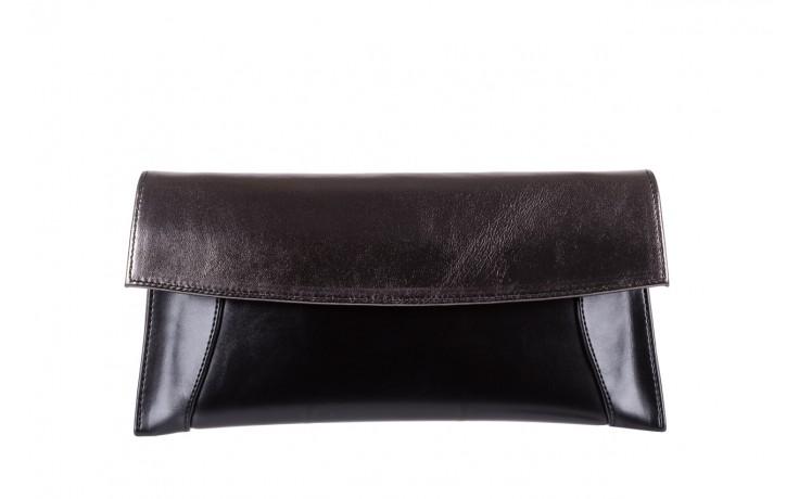 Torebka bayla-097 torebka koperta sandra czarno-srebrna, skóra naturalna  - akcesoria - kobieta