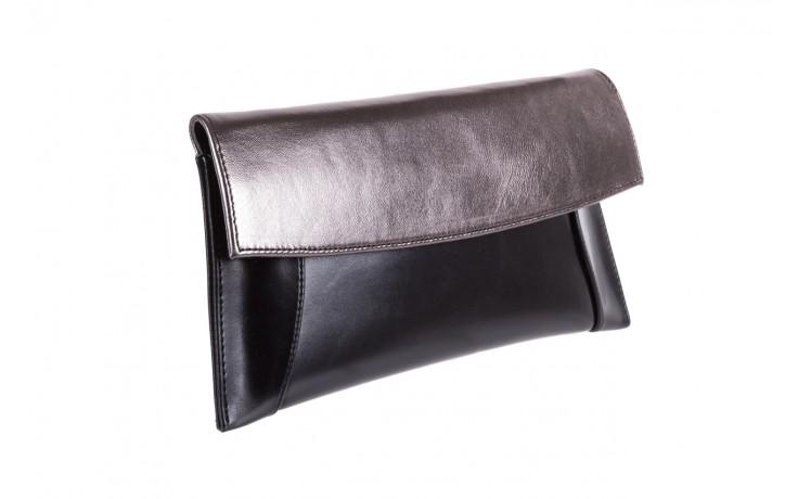 Torebka bayla-097 torebka koperta sandra czarno-srebrna, skóra naturalna  - akcesoria - kobieta 1