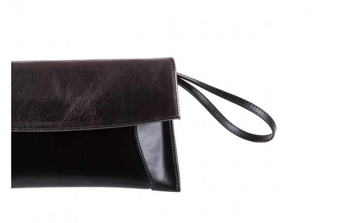 Torebka bayla-097 torebka koperta sandra czarno-srebrna, skóra naturalna  - akcesoria - kobieta 2