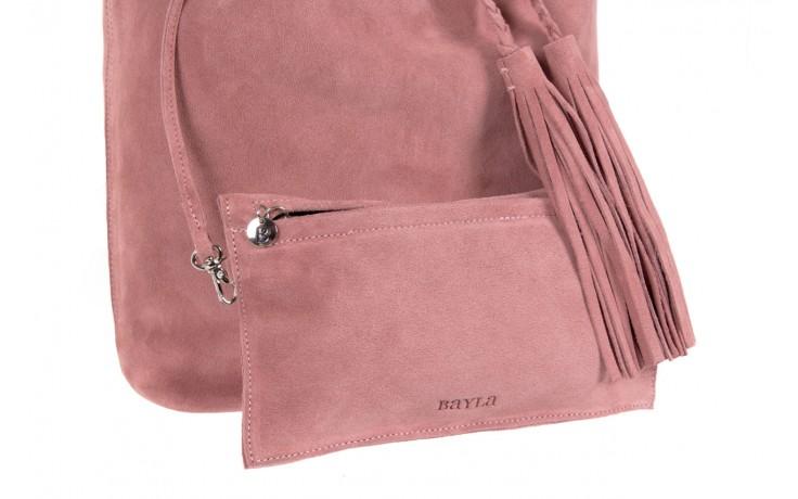Bayla-125 skórzany worek prato pudrowy róż - bayla - nasze marki 3