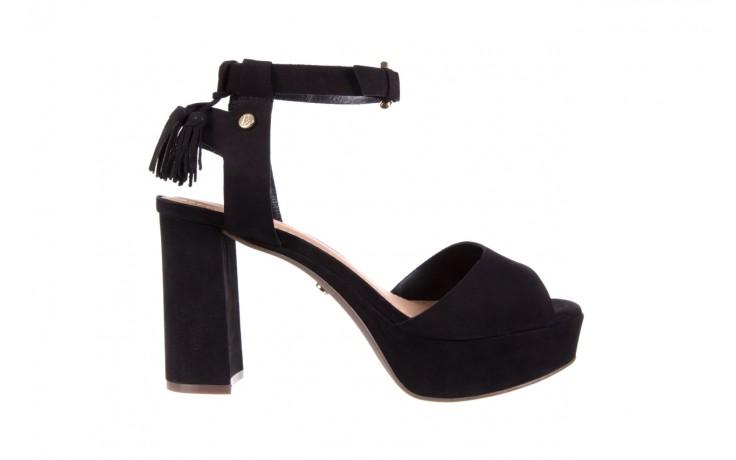 Sandały bayla-067 129006 nobuck black, czarny, skóra naturalna  - na platformie - sandały - buty damskie - kobieta
