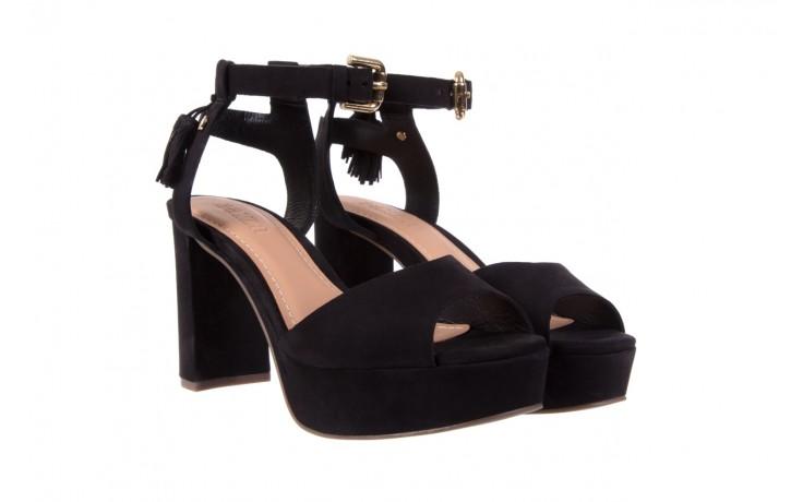 Sandały bayla-067 129006 nobuck black, czarny, skóra naturalna  - na platformie - sandały - buty damskie - kobieta 1