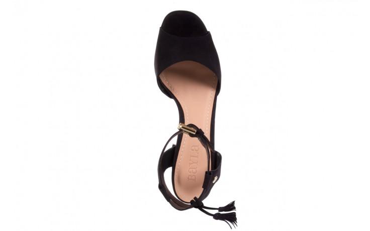 Sandały bayla-067 129006 nobuck black, czarny, skóra naturalna  - na platformie - sandały - buty damskie - kobieta 3