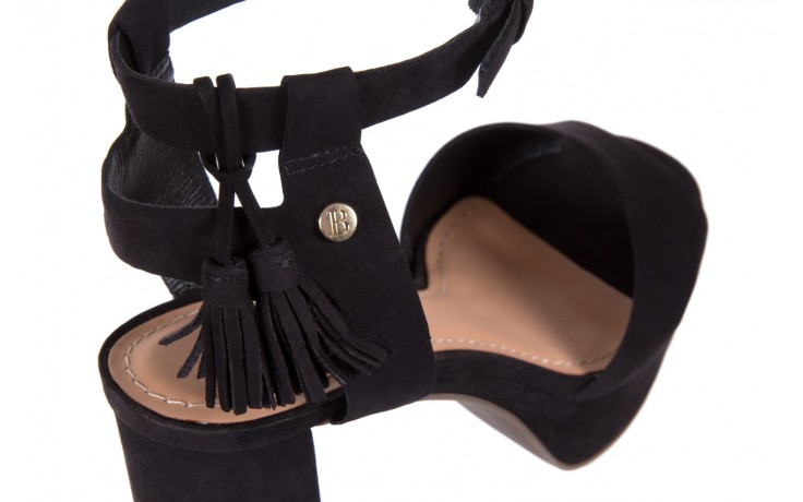 Sandały bayla-067 129006 nobuck black, czarny, skóra naturalna  - na platformie - sandały - buty damskie - kobieta 5