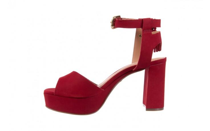 Sandały bayla-067 129006 nobuck red velvet, czerwony, skóra naturalna  - bayla - nasze marki 2