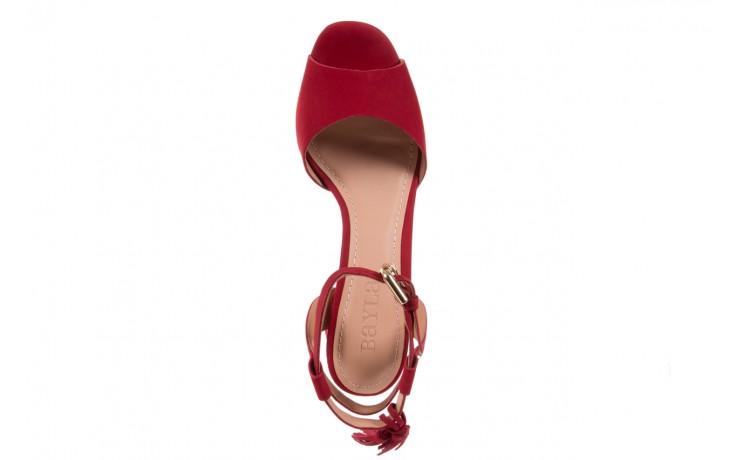 Sandały bayla-067 129006 nobuck red velvet, czerwony, skóra naturalna  - bayla - nasze marki 4