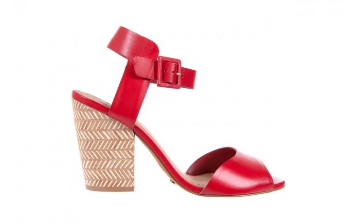 Sandały bayla-067 113215 vegetal red, czerwony, skóra naturalna  - bayla - nasze marki 1