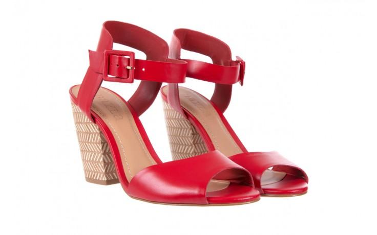 Sandały bayla-067 113215 vegetal red, czerwony, skóra naturalna  - bayla - nasze marki 2