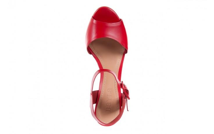 Sandały bayla-067 113215 vegetal red, czerwony, skóra naturalna  - bayla - nasze marki 5