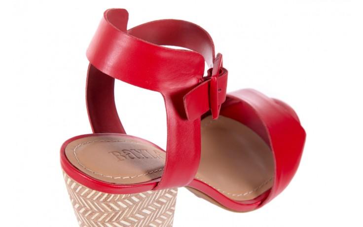Sandały bayla-067 113215 vegetal red, czerwony, skóra naturalna  - bayla - nasze marki 6
