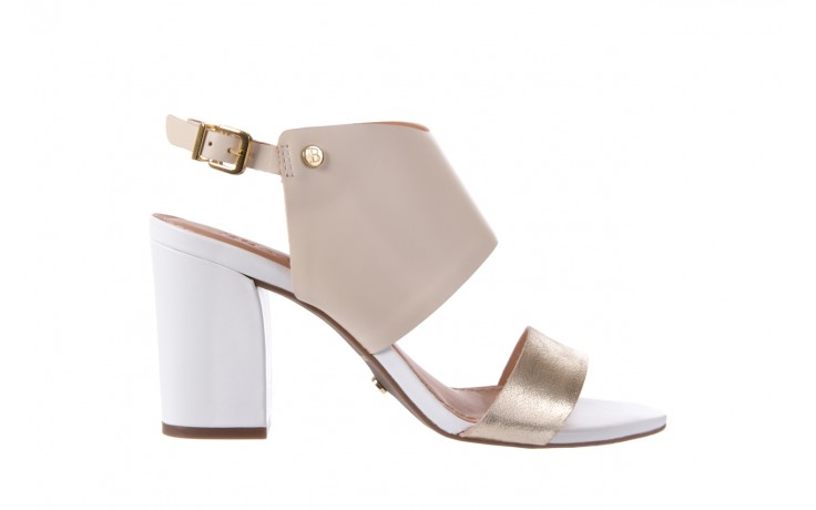 Sandały bayla-067 122330 b gold vanilla white, beż/ złoto, skóra naturalna  - bayla - nasze marki