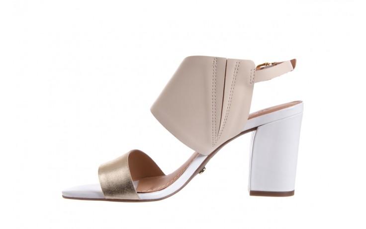 Sandały bayla-067 122330 b gold vanilla white, beż/ złoto, skóra naturalna  - bayla - nasze marki 2