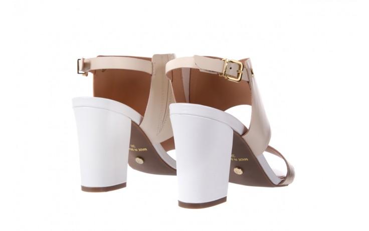 Sandały bayla-067 122330 b gold vanilla white, beż/ złoto, skóra naturalna  - bayla - nasze marki 3
