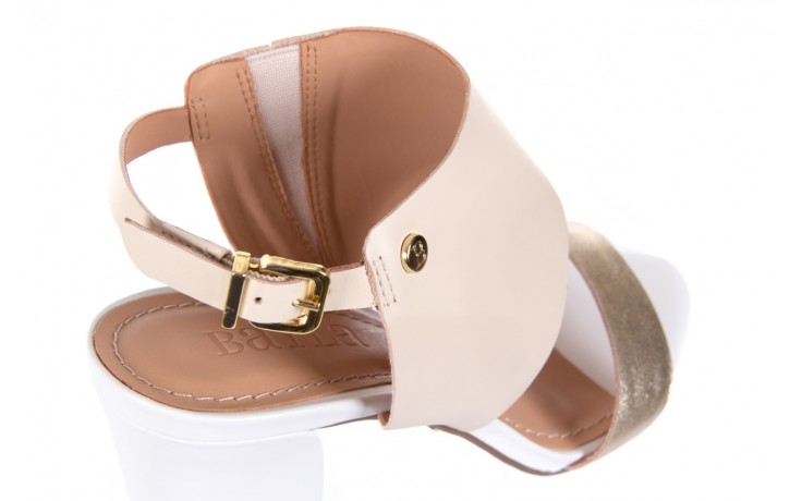 Sandały bayla-067 122330 b gold vanilla white, beż/ złoto, skóra naturalna  - bayla - nasze marki 5