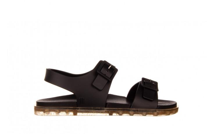 Sandały melissa wide sandal ad black rice husk 010358, czarny, guma - nowości