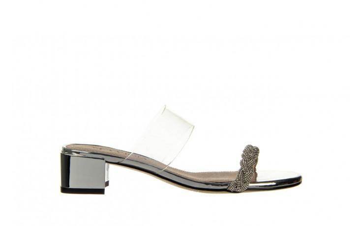 Klapki sca'viola b-205 silver 047180, srebro, silikon - klapki - buty damskie - kobieta