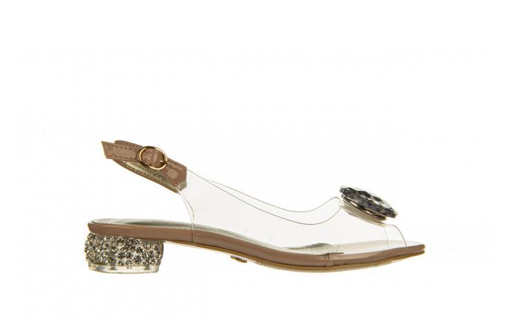 Sandały sca'viola g-15 l pink 21 047182, róż, silikon - na obcasie - sandały - buty damskie - kobieta