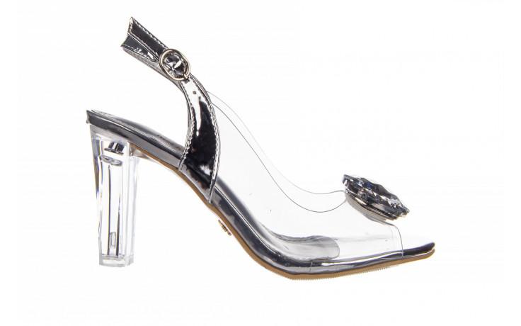 Sandały sca'viola g-17 silver 21 047186, srebro, silikon
