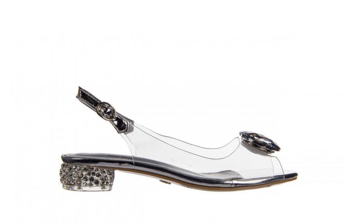 Sandały sca'viola g-15 silver 21 047183, srebro, silikon  - na obcasie - sandały - buty damskie - kobieta