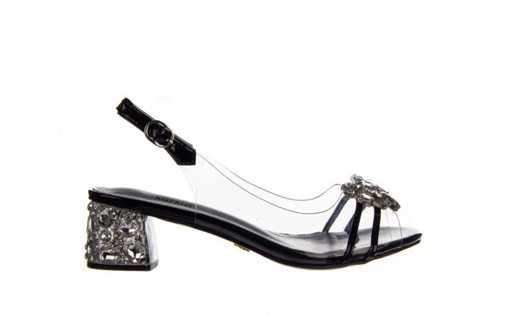 Sandały sca'viola g-25 black 047187, czarny, silikon