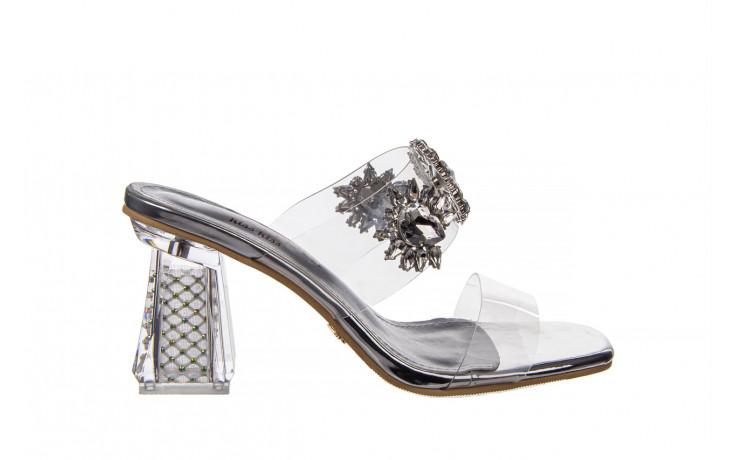 Klapki sca'viola g-58 silver 047188, srebro, silikon  - klapki - buty damskie - kobieta