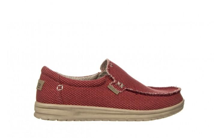 Półbuty heydude mikka braided pompeian red 003215, czerwony, materiał  - nowości