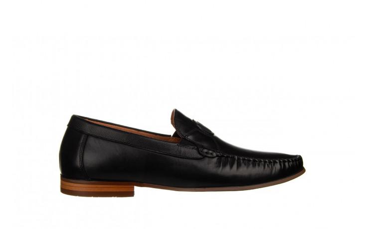 Mokasyny john doubare ygc-z2154-301-10 black 104174, czarny, skóra naturalna  - mokasyny i espadryle - buty męskie - mężczyzna