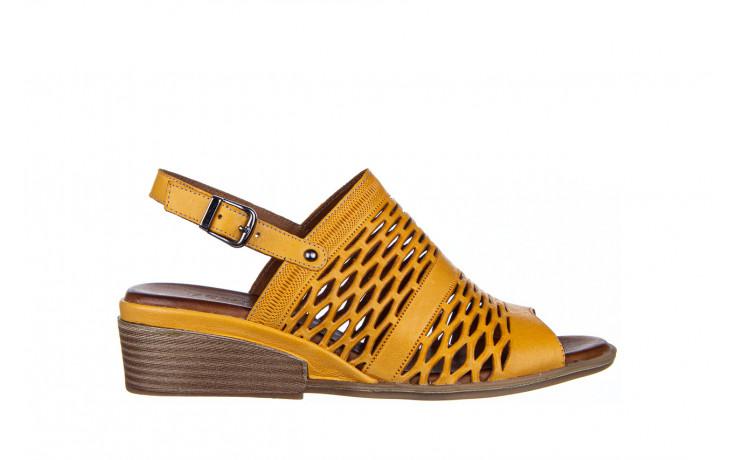 Sandały bayla-161 061 1600 noce 161200, żółty, skóra naturalna  - sandały - buty damskie - kobieta