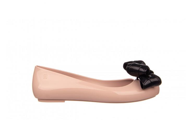 Baleriny melissa sweet love iv ad pink black 010371, róż, guma  - baleriny - melissa - nasze marki