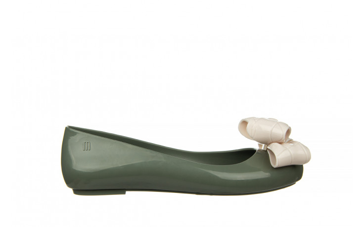 Baleriny melissa sweet love iv ad green beige 010370, zielony, guma