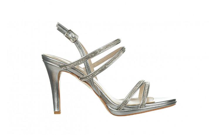 Sandały bayla-187 587-1120 silver 187016, srebro, skóra ekologiczna  - sandały - buty damskie - kobieta
