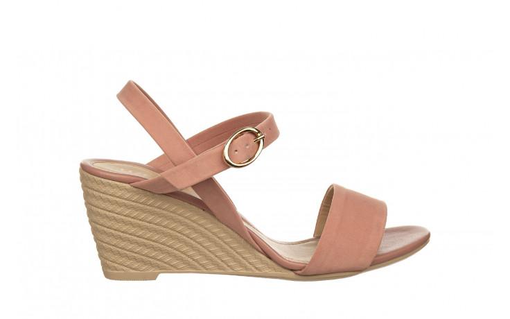 Sandały azaleia 680 242 suede old pink, róż, materiał  - koturny - buty damskie - kobieta