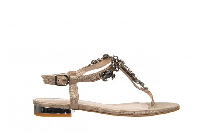 Sandały bayla-018 15472-x2 light grey, szary, skóra naturalna  - bayla - nasze marki