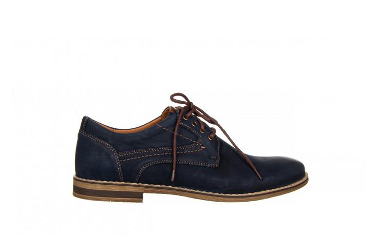 Półbuty bayla-081 831 juma blue ax, granat, skóra naturalna  - wizytowe - półbuty - buty męskie - mężczyzna