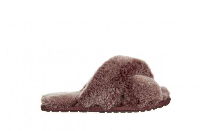 Kapcie emu mayberry frost burnt rust 119131, bordo, futro naturalne  - nowości