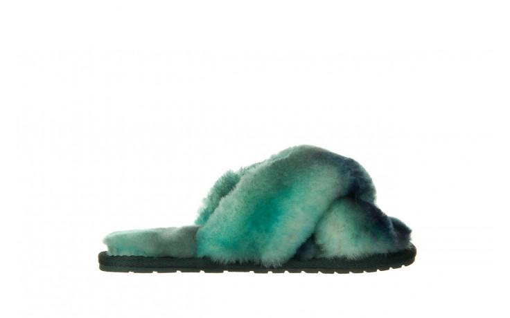 Kapcie emu mayberry tie dye green sea 119138, zielony, futro naturalne  - nowości
