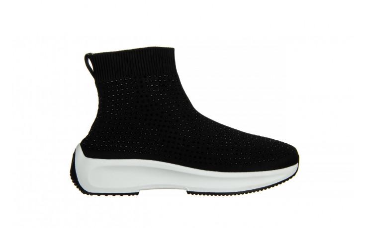 Sneakersy sca'viola l-15 black 047194, czarny, materiał - trendy - kobieta