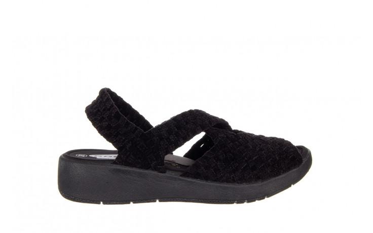 Sandały rock minily black cashmere 032847, czarny, materiał  - rock - nasze marki