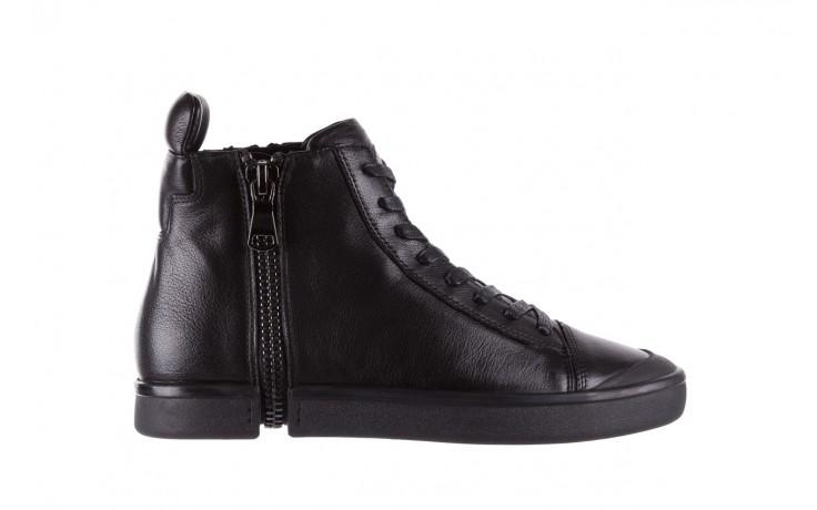 Sneakersy john doubare m5761-1 black, czarny , skóra naturalna  - trendy - mężczyzna
